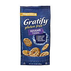 Gratify Gluten Free Sesame Pretzel Thins