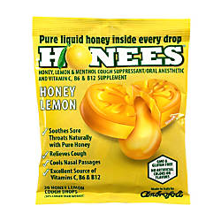 Honees Cough Drops Honey Lemon 20