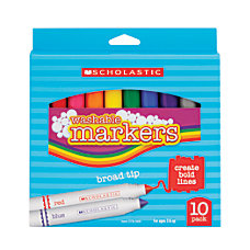Scholastic Washable Markers Broad Tip Assorted