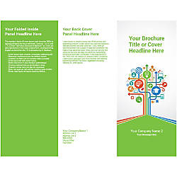 Customizable Trifold Brochure Education Tree