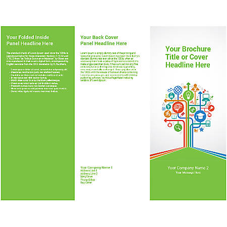 Customizable Trifold Brochure, Education Tree