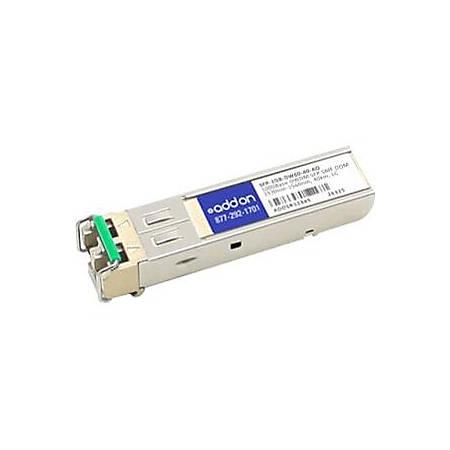 AddOn MSA and TAA Compliant 1000Base-DWDM 100GHz SFP Transceiver (SMF, 1529.55nm, 40km, LC, DOM)