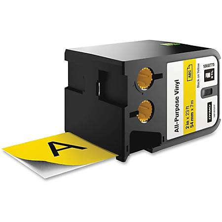 "Dymo XTL All-Purpose Vinyl Label Cartridge - Permanent Adhesive - 2 1/8"" Width x 24 39/64 ft Length - Thermal Transfer - Yellow - Vinyl - 1 Each"