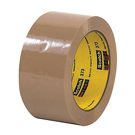 """3M® 373 Carton Sealing Tape, 2"""" x 55 Yd., Tan, Case Of 36"""