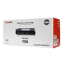 Canon 106 Black Toner Cartridge 0264B001AA