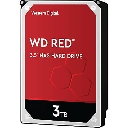 Western Digital® Red 3TB Internal Hard Drive For NAS, 64MB Cache, SATA/600, WD30EFRX
