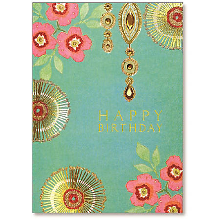 """Viabella Birthday Greeting Card With Envelope, Flowers, 5"""" x 7"""""""