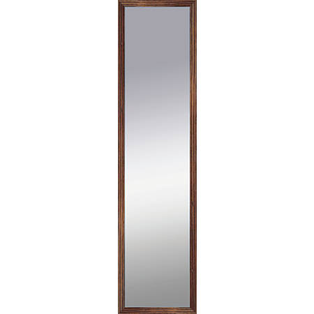 "PTM Images Framed Mirror, Shadowbox, 48""H x 12""W, Natural Wood"