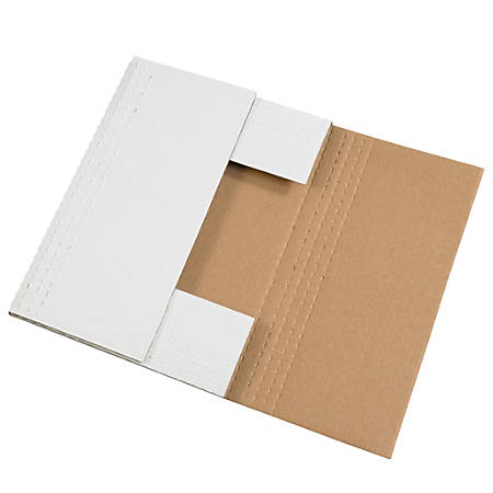 """Office Depot® Brand Easy Fold Mailers, 20"""" x 16"""" x 2"""", White, Pack Of 50"""