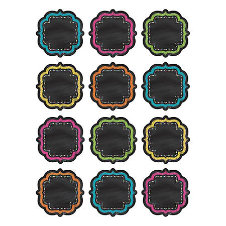 Teacher Created Resources Mini Accents, Chalkboard Brights, Assorted Colors, Grades Pre-K - 8, Pack Of 36