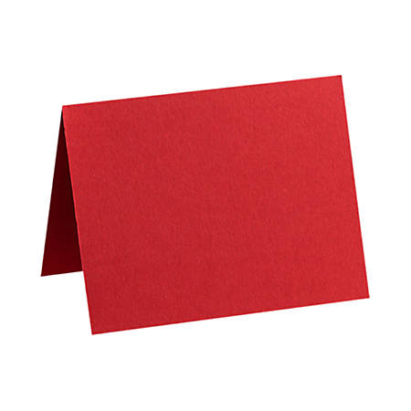 "LUX Folded Cards, A1, 3 1/2"" x 4 7/8"", Ruby Red, Pack Of 50"
