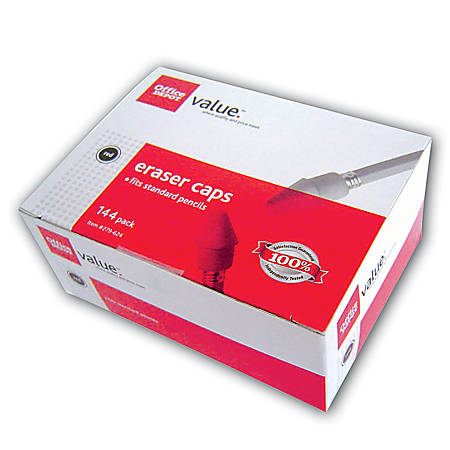 Office Depot® Brand Eraser Caps, Red, Box Of 144