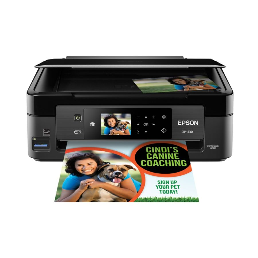Color printing office depot - Epson Expression Home Xp 430 Wireless Color Inkjet Small In One Printer Scanner Copier Photo By Office Depot Officemax