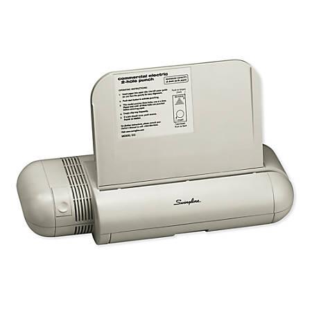 Swingline® Model 532 2-Hole Electric Punch, White