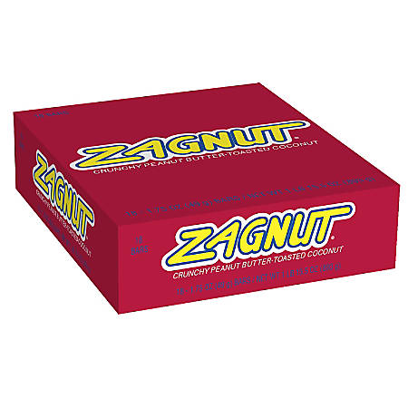 Zagnut Candy Bars, 1.75 Oz, Pack Of 18