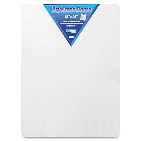 "Flipside Unframed Dry Erase Board, 18"" x 24"", White"