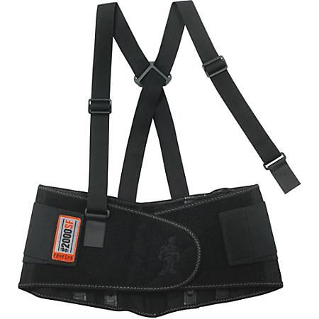 """ProFlex High-performance Back Support - Adjustable, Strechable, Comfortable - 38"""" Adjustment - Strap Mount - 8.5"""" - Black"""