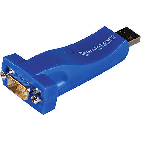 Brainboxes USB to Serial Adapter - 1 x Type A Male USB - 1 x DB-9 Male Serial