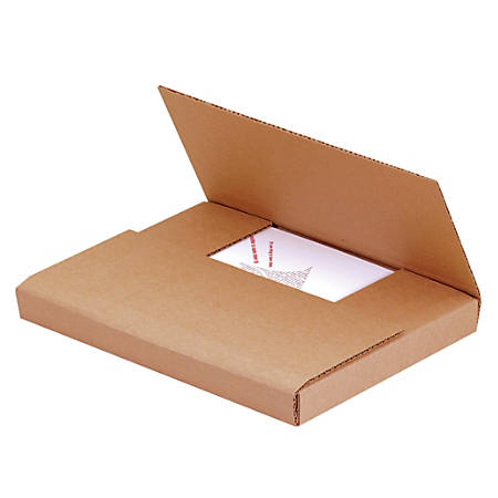 """Office Depot® Brand Easy Fold Mailers, 11 3/4"""" x 10 1/2"""" x 2 1/2"""", Kraft, Pack Of 50"""