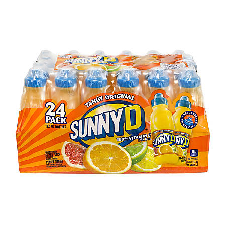 Sunny D Tangy Original, 11.3 Fl Oz, Pack Of 24 Bottles