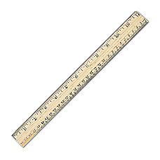 Westcott Metric Ruler With Metal Edge