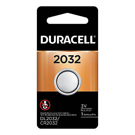 Duracell 3-Volt Lithium 2032 Coin Battery, Pack Of 1