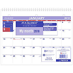 AT A GLANCE DeskWall Calendar 8