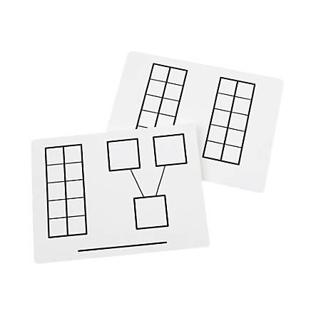"Didax Dry-Erase Ten-Frame Mats, 9"" x 12"", White, Pack Of 2"