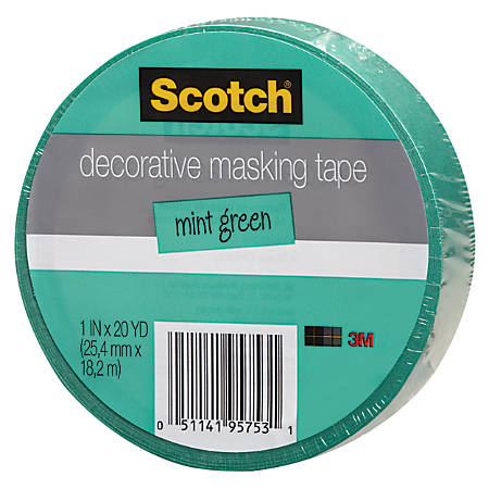 Scotch decorative masking tape 1 x 20 yd mint by office depot officemax - Decoration masking tape ...