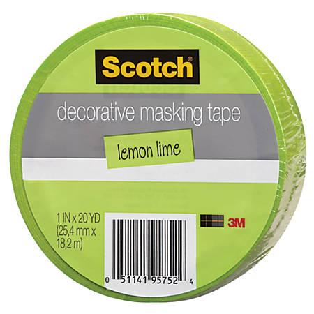 "Scotch® Decorative Masking Tape, 15/16"" x 27 3/10 Yd., Green"