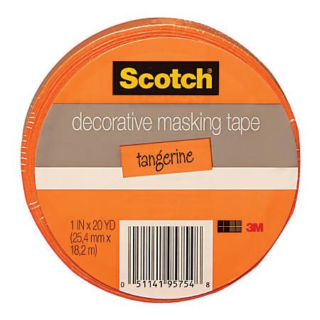 Scotch Decorative Masking Tape 1 X 20 Yd Orange By Office
