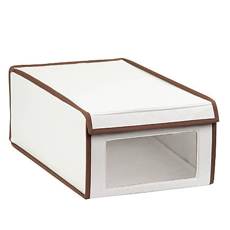 "Honey-Can-Do Shoe Storage Box, 6 1/4""H x 10""W x 16""D, Brown/Natural"