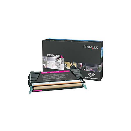 Lexmark™ C734A2MG Return-Program Magenta Toner Cartridge (S7531030)
