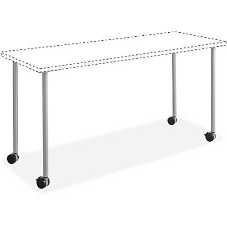 "Safco Impromptu Mobile Training Tabletops - Four Leg Base - 4 Legs - 28.50"" Height x 5"" Width x 5.25"" Depth - Silver - Steel"