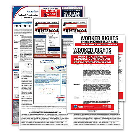 ComplyRight Federal Contractor Poster Bundle, English