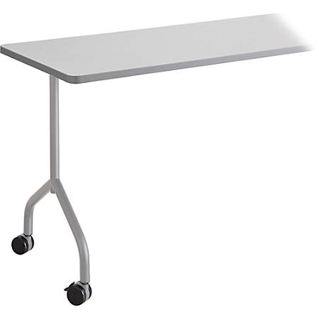 """Safco Impromptu Mobile Training Table T-Leg Base - T-shaped Base - 4 Legs - 28.50"""" Height x 5"""" Width x 5.25"""" Depth - Silver - Steel"""