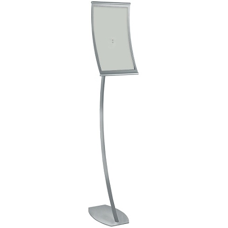 Azar Displays Curved Steel Frame Floor Stand Sign Holder 17 x 11 ...