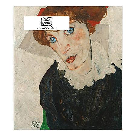 "Retrospect Egon Schiele Monthly Desk Calendar, 6-1/4"" x 5-1/2"", January To December 2020, YCD 069-20"