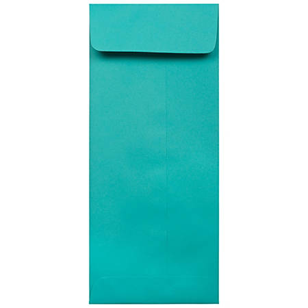 "JAM Paper® #12 Policy Envelopes, 4-3/4"" x 11"", Sea Blue, Pack Of 50 Envelopes"