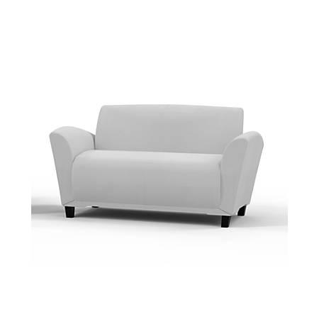 Mayline® Santa Cruz Lounge Seating, Settee, White/White