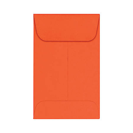 "LUX Coin Envelopes, #1, 2 1/4"" x 3 1/2"", Tangerine, Pack Of 50"