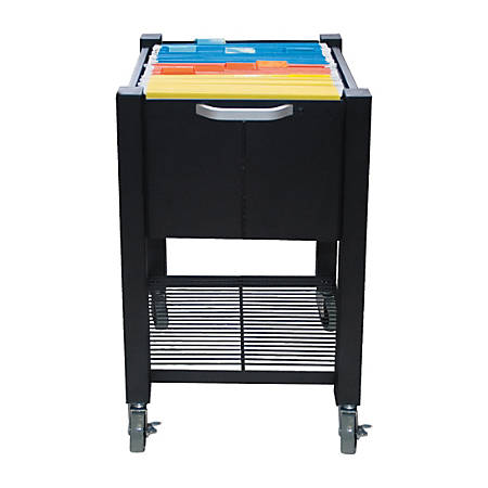 "Vertiflex® SmartWorx Sidekick Steel File Cart, 27 3/4""H x 15""W x 16 1/2""D, Black"