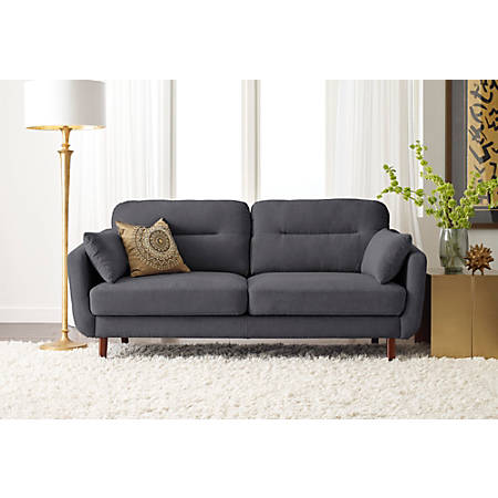 Serta® Sierra Collection Sofa, Slate Gray/Chestnut