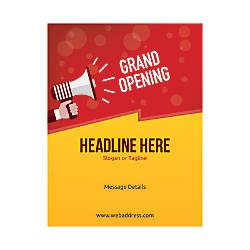 Custom Flyers Vertical Grand Opening Announcement