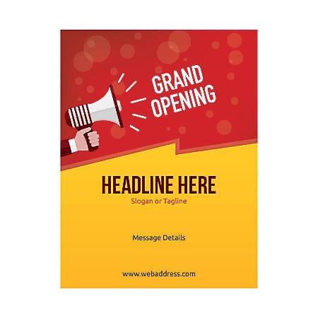Custom Flyers, Vertical, Grand Opening Announcement