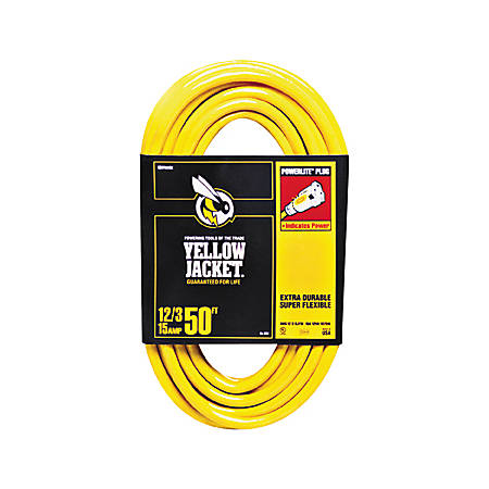 Woods Yellow Jacket Indoor/Outdoor Extension Cord, 50'
