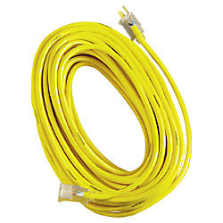 coleman cable 2885 123 100sjtw yellow jacket extension cord wlighted end by office depot officemax. Black Bedroom Furniture Sets. Home Design Ideas