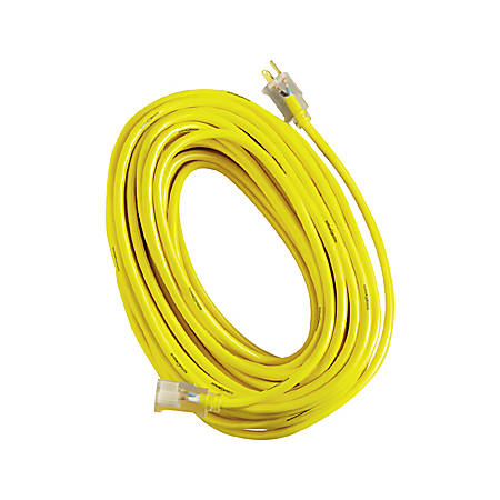 Woods Yellow Jacket Indoor/Outdoor Extension Cord, 100'