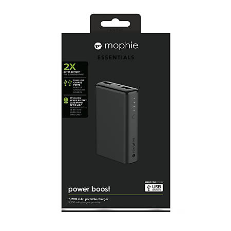 mophie Boost Powerbank, 5,200 mAh, Black, 4057