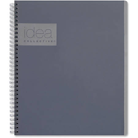 "TOPS Idea Collective Action Notebook - Twin Wirebound - College Ruled - 8 3/4"" x 11"" - Gray Cover - 1Each"